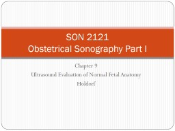 Lecture   9 Ultrasound Evaluation of Normal Fetal Anatomy