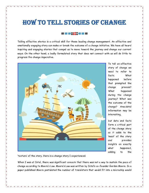 How To Tell Stories Of Change
