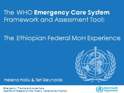 The  WHO  Emergency Care
