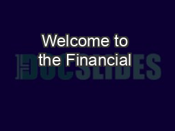 Welcome to the Financial & Match Report Training!