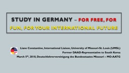 Study IN GERMANY  –   FOR FREE, FOR
