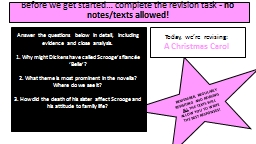 Before we get started… complete the revision task -