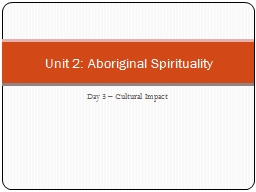 Day 3 � Cultural Impact