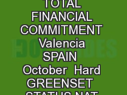 CITY COUNTRY TOURNAMENT DATES SURFACE TOTAL FINANCIAL COMMITMENT Valencia SPAIN  October  Hard GREENSET  STATUS NAT MAIN DRAW SINGLES  ESP D