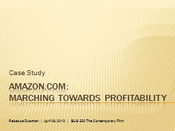 Amazon.com:  Marching Towards Profitability