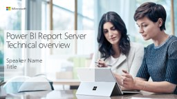 Power BI Report Server Technical overview
