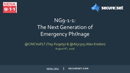 NG9-1-1: The Next Generation of