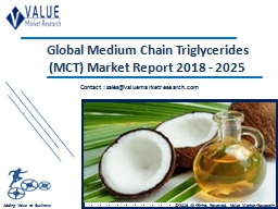 Medium Chain Triglycerides Market Size, Industry Analysis Report 2018-2025 Globally