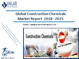 Construction Chemicals Market Size, Industry Analysis Report 2018-2025 Globally