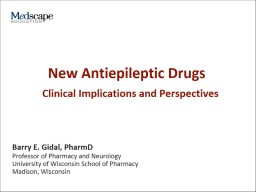 New Antiepileptic Drugs Program Goals