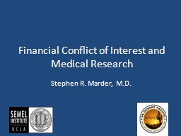Financial Conflict of Interest and Medical Research