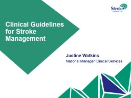 Clinical  Guidelines for Stroke