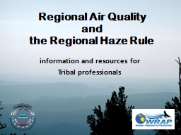 Regional Air Quality and PowerPoint PPT Presentation