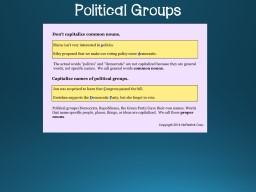 Political Groups Things is Space