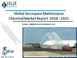 Aerospace Maintenance Chemical Market Share, Global Industry Analysis Report 2018-2025