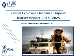Explosive Ordnance Disposal Market Share, Global Industry Analysis Report 2018-2025