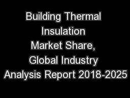 Building Thermal Insulation Market Share, Global Industry Analysis Report 2018-2025