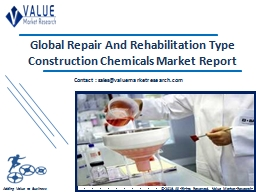 Repair and Rehabilitation Type Construction Chemicals Market Share, Global Industry Analysis Report 2018-2025