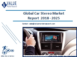 Car Stereo Market Share, Global Industry Analysis Report 2018-2025