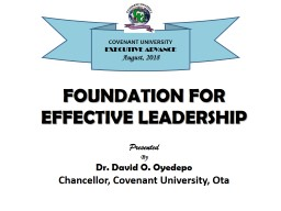 FOUNDATION FOR EFFECTIVE LEADERSHIP PowerPoint PPT Presentation