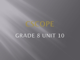 CSCOPE  Grade 8 Unit 10 What type of measuring unit would we need for distances across space?