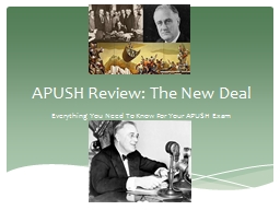 APUSH Review: The New Deal