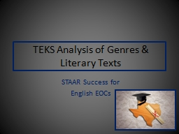 TEKS Analysis of  Genres & PowerPoint PPT Presentation