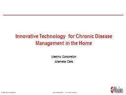 Innovative Technology  for Chronic Disease Management in the Home