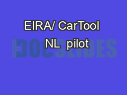 EIRA/ CarTool   NL  pilot