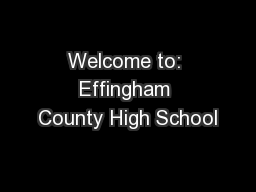 Welcome to: Effingham County High School