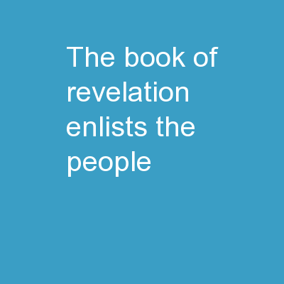 The book of Revelation enlists the people