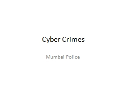 Cyber Crimes Mumbai Police