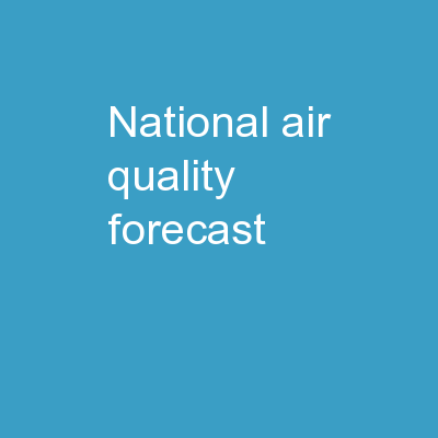 National  Air Quality Forecast