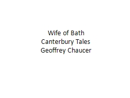Wife of Bath  Canterbury Tales