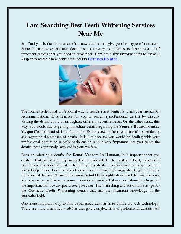 I am Searching Best Teeth Whitening Services Near Me