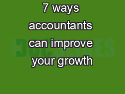 7 ways accountants can improve your growth