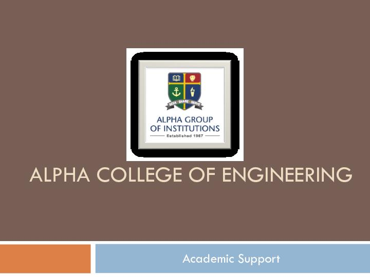 Alpha College of Engineering - Chennai