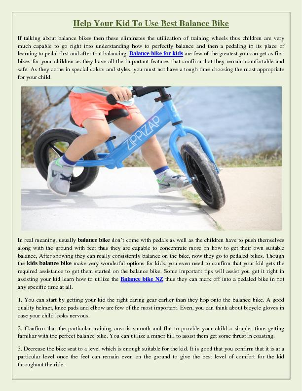 Help Your Kid To Use Best Balance Bike