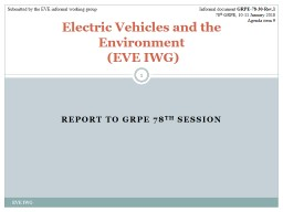 Report to GRPE 78 th  Session