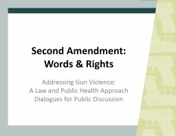 Second Amendment: Words & Rights PowerPoint PPT Presentation