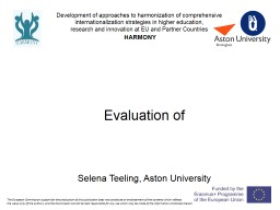 Evaluation of Project Progress