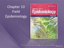 Chapter 10 Field Epidemiology