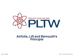 Airfoils, Lift and Bernoulli�s Principle