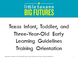 Texas Infant, Toddler,  and Three-Year-Old