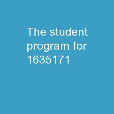 The Student Program for