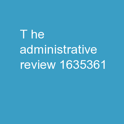 T he Administrative Review PowerPoint PPT Presentation