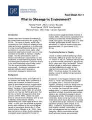 Fact Sheet What is Obesogenic Environment Pamela Powel