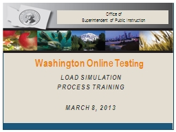 Load Simulation  Process Training