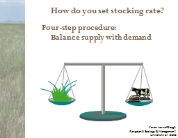 How do you set stocking rate?