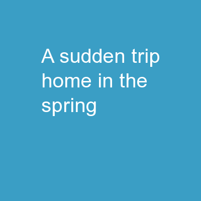 A Sudden Trip Home in the Spring